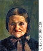 Ancher Michael Peter - Portrait of Maren Bollerhus - Danish School - 19th and Early 20th Century. Редакционное фото, фотограф Artepics / age Fotostock / Фотобанк Лори