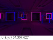 3d rendering of backgrounds abstract. 3d illustration of simple Geometric. Colorful illumination. Стоковое фото, фотограф Zoonar.com/Ake Puttisarn / easy Fotostock / Фотобанк Лори
