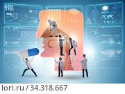 Otolaryngology concept with doctors treating patient. Стоковое фото, фотограф Elnur / Фотобанк Лори
