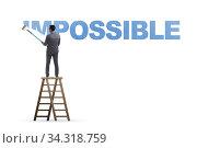 Businessman in impossible business concept. Стоковое фото, фотограф Elnur / Фотобанк Лори
