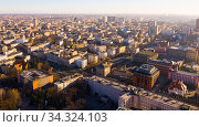 Aerial view on the city Lodz. Poland. Стоковое фото, фотограф Яков Филимонов / Фотобанк Лори