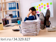 Купить «Young businessman working in the office», фото № 34329827, снято 5 августа 2020 г. (c) easy Fotostock / Фотобанк Лори
