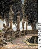 Hansen Adolf Heinrich - Parti Fra Villa Borghese - Italien - Danish... (2020 год). Редакционное фото, фотограф Artepics / age Fotostock / Фотобанк Лори
