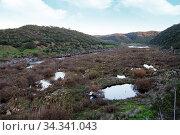 Beautiful view of a river landscape in the Alentejo region, Portugal. Стоковое фото, фотограф Zoonar.com/Mauro Rodrigues / easy Fotostock / Фотобанк Лори