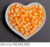 Maiskörner in einer weißen Schale für die Food Fotografie Corn kernels... Стоковое фото, фотограф Zoonar.com/Volker Schlichting / easy Fotostock / Фотобанк Лори