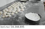 Closeup of hands making cookies from fresh dough. Стоковое видео, видеограф Яков Филимонов / Фотобанк Лори