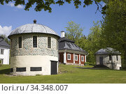Engelsberg Manor. Slag stone Pavilions built of slag stone built ... Стоковое фото, фотограф Andre Maslennikov / age Fotostock / Фотобанк Лори
