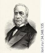 Portrait of Vicente de la Fuente y Bueno (Calatayud 1817 - Madrid... Стоковое фото, фотограф Jerónimo Alba / age Fotostock / Фотобанк Лори