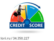 Купить «Businesswoman trying to improve credit score», фото № 34350227, снято 5 августа 2020 г. (c) easy Fotostock / Фотобанк Лори