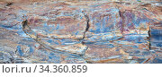Schöne Felsschichten in einem Granitstein durch Wasser geformt. Стоковое фото, фотограф Zoonar.com/manfred2000 / easy Fotostock / Фотобанк Лори