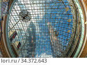 Shopping center AfiMall City in Moscow International Business Center (City), Russia (2020 год). Стоковое фото, фотограф Владимир Журавлев / Фотобанк Лори