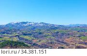 Panoramic view of San Marino. Стоковое фото, фотограф Роман Сигаев / Фотобанк Лори