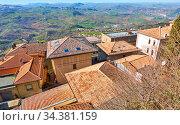 Rooftops of San Marino. Стоковое фото, фотограф Роман Сигаев / Фотобанк Лори
