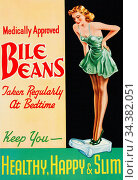 L0044201 Advert: Medically approved Bile Beans Credit: Wellcome Library... Стоковое фото, фотограф Wellcome Library, London / age Fotostock / Фотобанк Лори
