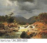 Achenbach Andreas - Norwegische Landschaft Mit Fuchs an Einem Wildbach... Редакционное фото, фотограф Artepics / age Fotostock / Фотобанк Лори