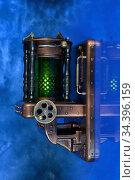 Настенный светильник в ретро-футуристическом стиле. Стоковое фото, фотограф Валерий Александрович / Фотобанк Лори