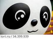 A beautiful closeup of a cute cartoon panda. Стоковое фото, фотограф Zoonar.com/Pawel Opaska / easy Fotostock / Фотобанк Лори