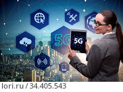 5g concept of internet connection technology. Стоковое фото, фотограф Zoonar.com/Elnur Amikishiyev / easy Fotostock / Фотобанк Лори