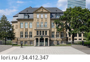 Villa Horion at Johannes-Rau-Platz, today House of Parliament History NRW, Duesseldorf, North Rhine-Westphalia, Germany. Редакционное фото, агентство Caro Photoagency / Фотобанк Лори