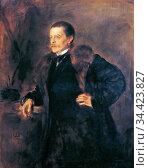 Lenbach Franz Von - Mr Koch - German School - 19th Century. Редакционное фото, фотограф Artepics / age Fotostock / Фотобанк Лори