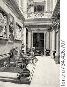 Palace Duke of Uceda building in 1864, located in the Plaza de Colón... Стоковое фото, фотограф Jerónimo Alba / age Fotostock / Фотобанк Лори