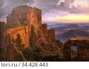 Morgenstern Christian Ernst - Ruine Du Haut-Koenigsbourg - German... Редакционное фото, фотограф Artepics / age Fotostock / Фотобанк Лори