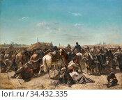 Schreyer Adolf - an Ottoman Encampment - German School - 19th and... Редакционное фото, фотограф Artepics / age Fotostock / Фотобанк Лори