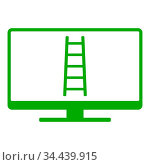 Leiter und Monitor - Ladder and screen. Стоковое фото, фотограф Zoonar.com/Robert Biedermann / easy Fotostock / Фотобанк Лори