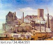 Rethel Alfred - Die Harkortsche Fabrik Auf Burg Wetter - German School... Стоковое фото, фотограф Artepics / age Fotostock / Фотобанк Лори