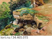 Saal Georg Eduard Otto - Altes Schloss Baden - German School - 19th... Стоковое фото, фотограф Artepics / age Fotostock / Фотобанк Лори