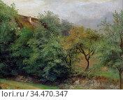 Weber Gottlieb Daniel Paul - Gartenhaus Zwischen Bäumen - German ... Редакционное фото, фотограф Artepics / age Fotostock / Фотобанк Лори