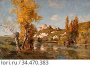 Weiss Joseph Andreas - Landscape Sussex - German School - 19th and... Редакционное фото, фотограф Artepics / age Fotostock / Фотобанк Лори
