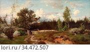 Munsterhjelm Hjalmar - Veräjän Luona - Finnish School - 19th Century. Редакционное фото, фотограф Artepics / age Fotostock / Фотобанк Лори