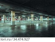 Empty parking lot wall. Urban industrial background. Стоковое фото, фотограф Zoonar.com/Ruslan Gilmanshin / age Fotostock / Фотобанк Лори