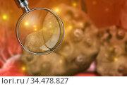 Virus and bacterium background - High Quality 3D Render. Стоковое фото, фотограф Vitanovski Jovanche / easy Fotostock / Фотобанк Лори