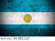 Argentina grunge flag. Dirty background pattern. Стоковое фото, фотограф Zoonar.com/Ruslan Gilmanshin / age Fotostock / Фотобанк Лори