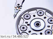Close up of open computer hard disk tonned. Стоковое фото, фотограф Zoonar.com/Ruslan Gilmanshin / age Fotostock / Фотобанк Лори