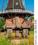 Windmühle in den Niederlanden. Стоковое фото, фотограф Zoonar.com/Stephan S / easy Fotostock / Фотобанк Лори