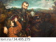 Portrait of a Man in Armor with Two Pages. Стоковое фото, фотограф Parus Bordon / age Fotostock / Фотобанк Лори