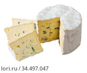 Blue cheese on wooden board. Стоковое фото, фотограф Яков Филимонов / Фотобанк Лори