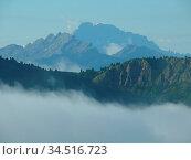 Dolomiten, berge, berge, gebirge, hochgebirge, nebel, wolke, wolken... Стоковое фото, фотограф Zoonar.com/Volker Rauch / easy Fotostock / Фотобанк Лори