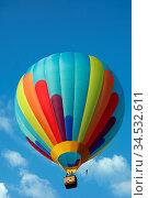 Heissluftballon, ballon, luft, heiss, himmel, korb, bunt, fliegender... Стоковое фото, фотограф Zoonar.com/Zoonar/Elke Hötzel / easy Fotostock / Фотобанк Лори