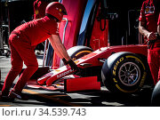 Melbourne, Australia - March 12 2020: Scuderia Ferrari Mission Winnow... Стоковое фото, фотограф Zoonar.com/Chris Putnam / age Fotostock / Фотобанк Лори