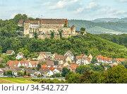 Stettenfels Castle in Untergruppenbach, Baden Württemberg, Germany. Стоковое фото, фотограф Olaf Protze / age Fotostock / Фотобанк Лори