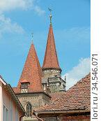 Ansbach, kirche, turm, kirchturm, kirchtürme, türme, franken, bayern... Стоковое фото, фотограф Zoonar.com/Volker Rauch / easy Fotostock / Фотобанк Лори