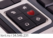 Buttons on a keyboard, selective focus on the middle right button... Стоковое фото, фотограф Zoonar.com/Micha Klootwijk / age Fotostock / Фотобанк Лори