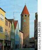 Färberturm, gunzenhausen, turm, altstadt, innenstadt, historisch,... Стоковое фото, фотограф Zoonar.com/Volker Rauch / easy Fotostock / Фотобанк Лори