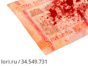 5 Gambian dalasi bank note, selective focus, bloody. Стоковое фото, фотограф Zoonar.com/Micha Klootwijk / age Fotostock / Фотобанк Лори