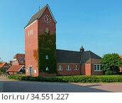 Baltrum, dorf, kirche, inselkirche, religion, architektur, glaube... Стоковое фото, фотограф Zoonar.com/Volker Rauch / easy Fotostock / Фотобанк Лори
