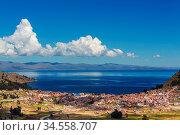 Beautiful Titicaca Lake in Bolivia. Стоковое фото, фотограф Zoonar.com/Galyna Andrushko / easy Fotostock / Фотобанк Лори